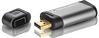 Oehlbach USB Bridge - USB DAC 转换器和耳机扩音器 USB 闪存盘格式,前置放大器 - 黑灰色