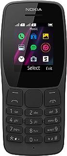 Nokia 诺基亚 110-2G 无锁双卡功能手机 - 1.7 英寸屏幕 - 黑色
