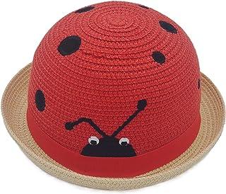 幼儿男孩女孩趣味派对彩色软吸管防风帽儿童昆虫设计户外*沙滩帽