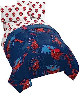 Jay Franco Marvel 蜘蛛侠蜘蛛侠 Daze 5 件套全套床上用品 - 包括双面被子和床单套件 - 超柔软防褪色超细纤维(官方 Marvel 产品)