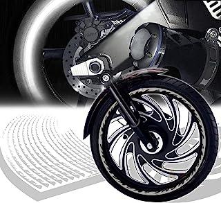 ExtremePowersports 反光边缘胶带/车轮边缘贴花条纹贴纸框架/火银色