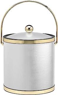 Kraftware Corp. 精致,抛光金色 3 夸脱冰桶,带 Bale 手柄、表带和腈纶 白色 3 夸脱 50265