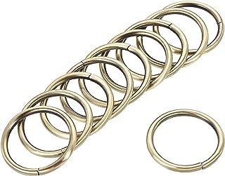 uxcell 金属 O 形环 32 毫米(1.26 英寸)ID 3.8 毫米厚铁环用于五金DIY配件青铜色 30 件