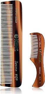 Kent 手工梳子 – 81T 胡须和胡子梳和 FOT 口袋梳 – 手工抛光柔软圆齿 – *佳胡须护理套装,旅行和家庭,日常梳理