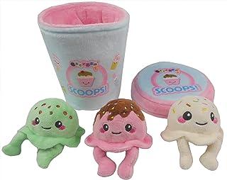 iscream Play with Your Food!Pint of Ice Cream Fleece Play 枕头套装,带刺绣装饰