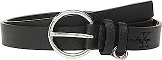 Calvin Klein 女士 25 毫米扁平皮带,带环细节设计