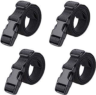 ompait 4 件行李带手提箱皮带,可调节带扣包带旅行行李带,黑色