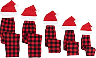Mad Dog Concepts 配套家庭格子圣诞睡衣裤 + 圣诞老人帽子套装