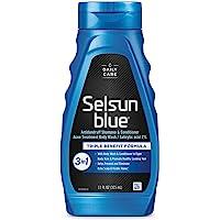 Selsun 蓝色活性 3 合 1 *屑洗发水 11 盎司 1包 1