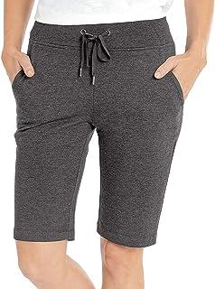 Eddie Bauer 女式法式毛圈百慕大短裤,深灰色,S 码