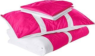 Baby Doll Sweet Lodge 系列 4 件套幼儿床上用品套装,桃红色