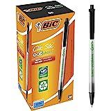 BIC Ecolutions圆头Stic圆珠笔,中号(1.0毫米),黑色,50支
