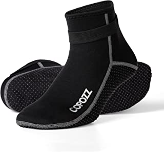 COPOZZ 潜水袜 3 毫米氯丁橡胶沙滩水袜,冲浪保暖柔软皮划艇防滑潜水靴适用于漂流浮浮潜游泳帆船男女