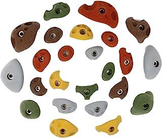 Atomik 攀岩 24 个固定螺栓 手脚 适用于儿童攀岩墙壁 各种地球色调 非常适合学龄前儿童和以上儿童
