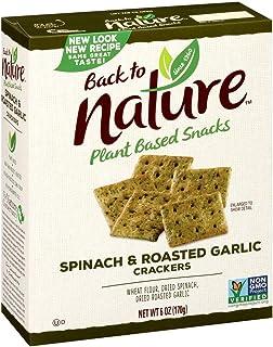 Back to Nature 饼干,非转*菠菜和大蒜,7 盎司(约 184.3 克)(包装可能有所不同)