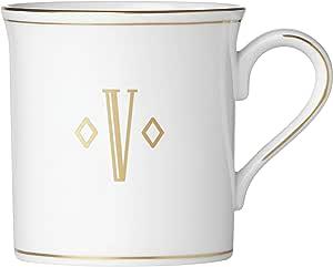 Lenox 联邦金块交织字母餐具 字母 V 874375