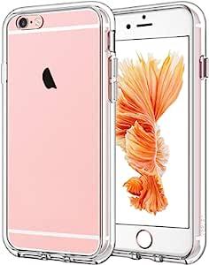 JETech 手机壳,适用于 iPhone 6 和 iPhone 6s,减震缓冲保护套,防刮透明背面(高清透明)