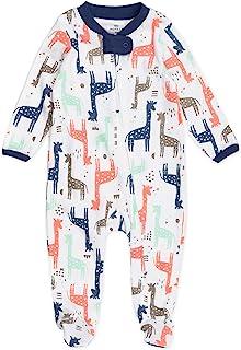 The Honest Company 婴儿*棉*和玩耍 Multi-colored Giraffes 0-3 Months