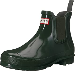 Hunter 女式原创 Chelsea 靴光泽 深橄榄色 5 B(M) US