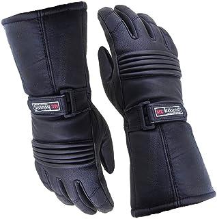 男士保暖手套皮革防水摩托车&冬季 3M 新雪丽 S 黑色 GWTH-S