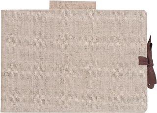 马尔曼 素描本 麻封面 B6 クリームコットン紙 麻色