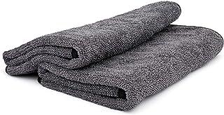 The Rag Company (2 件装 20 英寸 x 24 英寸双扭曲专业韩国 70/30 混合 850gsm 扭环超细纤维干燥毛巾