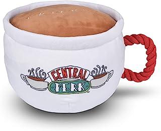 Warner Bros Friends 电视节目中地皮咖啡马克杯毛绒狗玩具带绳手柄| 柔软可爱的吱吱玩具,适合所有狗狗 | 带吱吱响的填充狗狗玩具,带来更多乐趣,朋友纪念