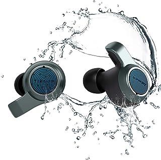 Jabees Firefly.2 Touch TWS 耳塞防水防尘 IP67 10 小时播放时间,透明模式水上运动耳机双麦克风耳机启用Qi 无线充电盒(炭灰色)