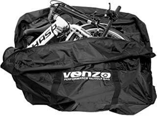 Venzo 210D 尼龙山地公路或折叠自行车旅行运输手提袋适用于 26 英寸 700c 和 29 英寸山地自行车 - 在巴士或火车上携带自行车袋