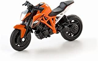 SIKU 1384,KTM 1290 Super Duke R 摩托车,金属/塑料,橙色,橡胶轮胎