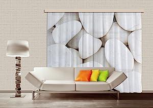 AG DESIGN 白色石材窗帘遮光遮光,多色,280 x 245 厘米