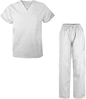G Med 男式磨砂套装 V 领上衣和裤子 2 件套