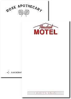 Cool Tv Props - Schitt's Creek Rosebud 汽车旅馆和玫瑰*便笺簿套装 - 2 件套 - Schitt's Creek 电视节目商品