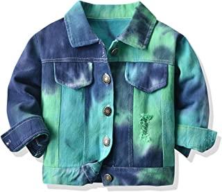 男童女童牛仔夹克儿童幼儿系扣牛仔裤夹克上衣外套