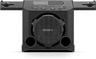 Sony 索尼 GTK-PG10便携式蓝牙扬声器:室内/室外无线蓝牙扬声器-带杯架的紧凑型派对立体声系统-带FM收音机调谐器,麦克风插孔,USB端口的旅行扬声器