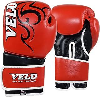 VELO 皮质拳击手套拳击袋 MMA 泰拳格斗垫拳击手套