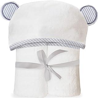 超柔软竹制连帽婴儿毛巾 - 带耳朵的连帽浴巾,适合婴儿、幼儿 - 大号婴儿毛巾 - 适合男孩和女孩,来自 San Francisco Baby