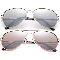 儿童青少年飞行员偏光太阳镜 HQ 耐用不锈钢框架