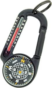 Sun Company TempaComp - Ball Compass and Thermometer Carabiner | Hiking, Backpacking, and Camping Accessory | Clip On To Pack, Parka, or Jacket