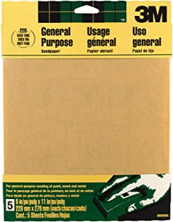 3M 9000NA-20-CC Sandpaper Aluminum Obyide, 9-Inch by 11-Inch, Very Fine