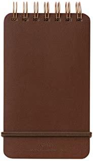 世界工艺 Grain 线圈笔记本 深褐