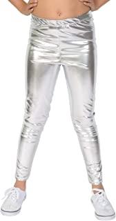 Stretch is Comfort 棉质,金属和印花女童无脚打底裤