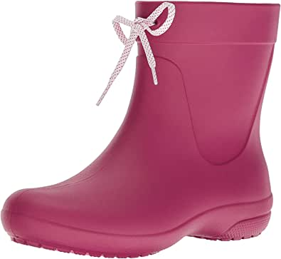 Crocs Women's Freesail Shorty Rainboot Berry Rain Boots