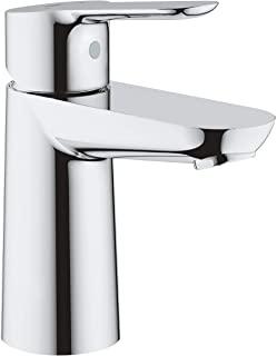 Grohe 高仪 BauEdge 浴室水龙头/单把面盆龙头 23330000,带陶瓷阀芯,镀铬,S号