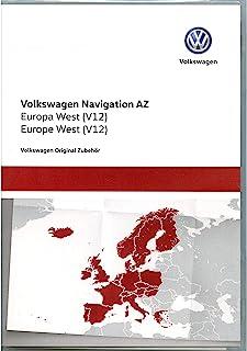 大众汽车 3AA051866BE 原装 VW SD 卡导航 V12 欧洲 West RNS 315 导航系统 Navi 软件更新,仅适用于平台AZ