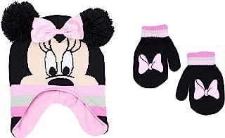 Disney 女童 Minnie Mouse 冬季帽子和手套套装