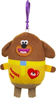 Hey Duggee 夹式钥匙圈软玩具,17 厘米。 理想悬挂玩具,可轻松挂在背包、衣服、手提包、钱包等上。 背包标识,包配件