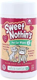 Natural Essentials Sweet Nothin's 宠物耳朵湿巾 100 片,1 只装