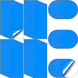 Outus 泳池乙烯基修补套件自粘乙烯基修补补丁套件充气泳池修补补丁套件塑料修补补丁适用于充气船池(60 码,蓝色)