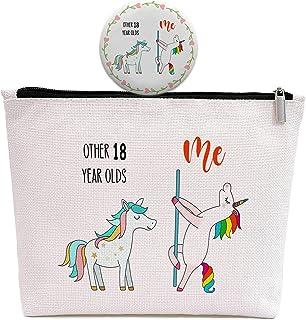 Unicorn 18 岁成人生日礼物 - 化妆包带可爱镜子礼物送给女孩、姐妹、女儿、孙女、侄女 - 其他 18 岁、我